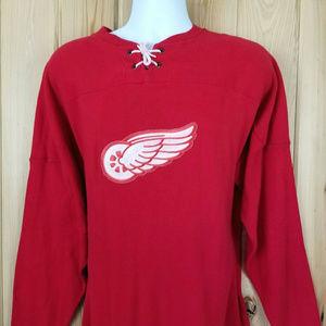 Detroit Red Wings NHL Vintage Ebbets Field Flannel